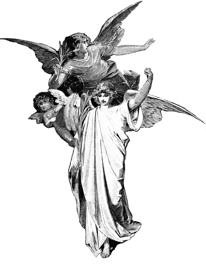 Clipart , Christian clipart by images of angels